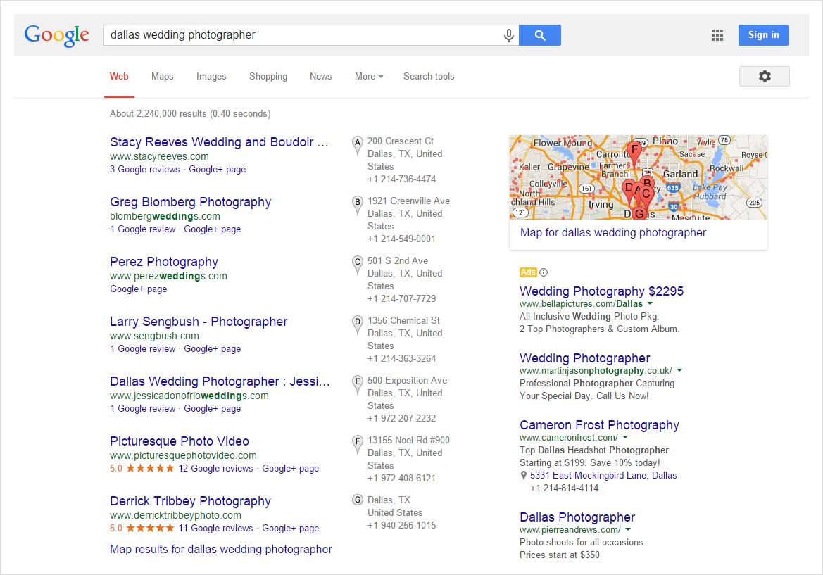 Dallas Wedding Photographer Search