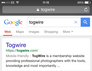 Togwire is mobile friendly